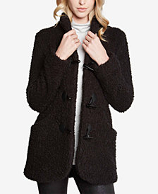 Karen Kane Bouclé Toggle Coat