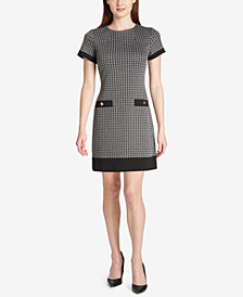 Tommy Hilfiger Jacquard Pocket Dress, Created for Macy's