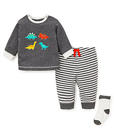 Little Me Baby Boys Fun Dinos Jogger Set with Socks