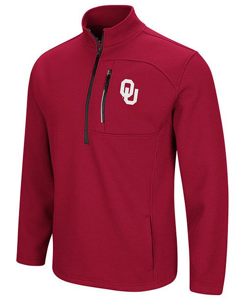Colosseum Men's Oklahoma Sooners Advantage Quarter-Zip Jacket