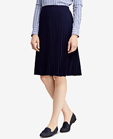 Lauren Ralph Lauren Pleated Georgette Skirt