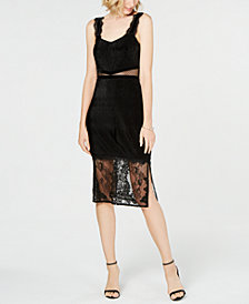 French Connection Lace-Hem Dress