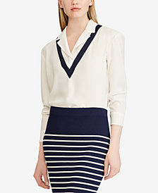 Lauren Ralph Lauren Layered-Look Georgette Top