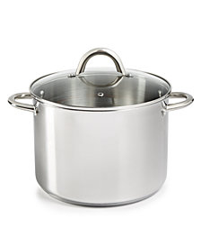 Tools of the Trade 8-Qt. Stainless Steel Stockpot & Lid, Created for Macy's