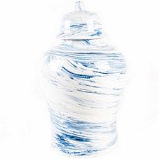 Blue Marbled Ginger Decorative Jar
