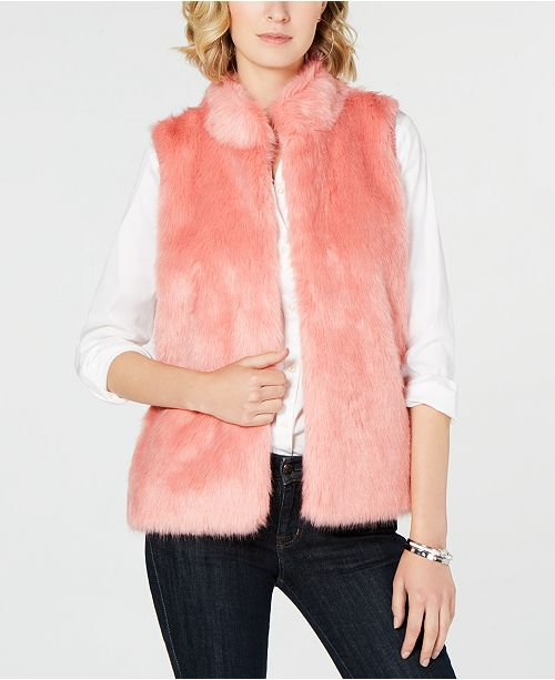 59060e588cd70 Michael Kors Faux-Fur-Front Sweater Vest in Regular   Petite Sizes ...