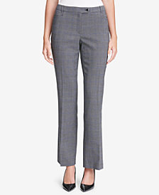 Calvin Klein Glen Plaid Modern Pants,  Regular & Petite