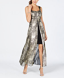 Connected Printed Flyaway Maxi Dress