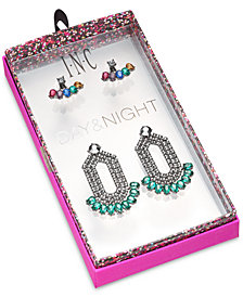 I.N.C. Day & Night Hematite-Tone 2-Pc. Set Coordinated Multi-Stone Earring Jackets and Drop Earrings, Created for Macy's