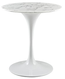 """Modway Lippa 28"""" Round Artificial Marble Dining Table"""