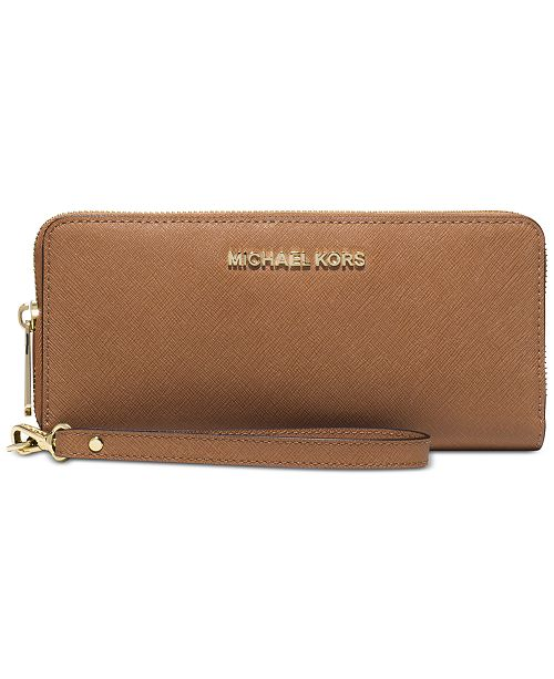 b29801a1a06c Michael Kors Jet Set Travel Crossgrain Leather Continental Wallet ...
