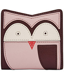 Fossil RFID Mini Leather Owl Wallet