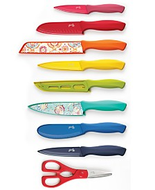 Fiesta 17-Pc. Solid & Decal Cutlery Set