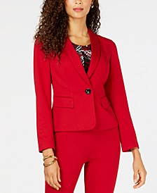 One-Button Shawl Collar Blazer