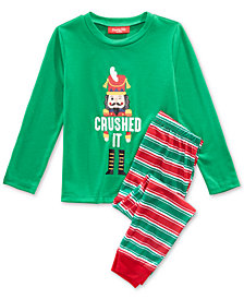 Matching Family Pajamas Crushed It Stripe Pajama Set, Available in Toddlers and Kids, Created For Macy's