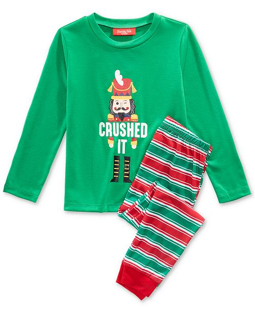 Family Pajamas Matching Crushed It Stripe Pajama Set, Available in Toddlers and Kids, Created For Macy's