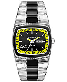 Diesel Men's 40th Anniversary 2005 Transparent Nylon Bracelet Watch 46x43mm, Limited Edition