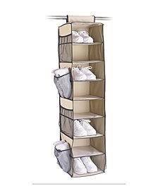 Organize it All 8 Shelf Shoe Storage Bag with Side Pockets