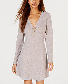 No Comment Juniors' Necklace Sweater Dress