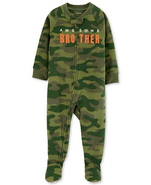 2c0af9ecd Carter s Baby Boys Brother Camo Footed Fleece Pajamas - Pajamas ...
