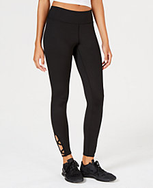 Freshman Juniors' Lattice-Trim Leggings