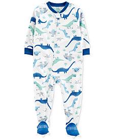 Carter's Baby Boys Dinosaur-Print Fleece Footed Pajamas