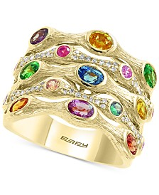 EFFY® Multi-Gemstone (2-3/8 ct. t.w.) & Diamond (1/5 ct. t.w.) Statement Ring in 14k Gold