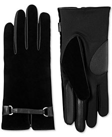 Isotoner Signature Women's Velvet Buckle Touchscreen Gloves