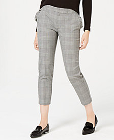 Maison Jules Houndstooth-Print Cropped Pants, Created for Macy's