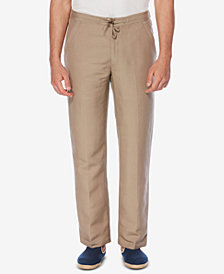 "Cubavera Solid Linen-Blend Drawstring Pants 30"" Inseam"