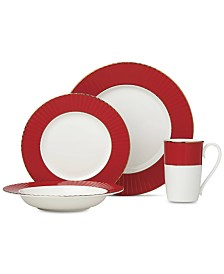 Lenox Pleated Colors Red  Dinnerware Collection