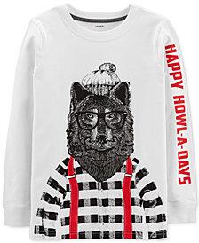 Carter's Little & Big Boys Howl-A-Days-Print Cotton T-Shirt
