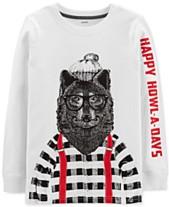 ae92d029e25 Carter s Little   Big Boys Howl-A-Days-Print Cotton T-Shirt
