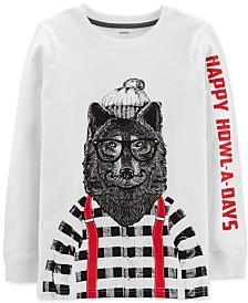31fed63a82c Carter s Little   Big Boys Howl-A-Days-Print Cotton T-Shirt