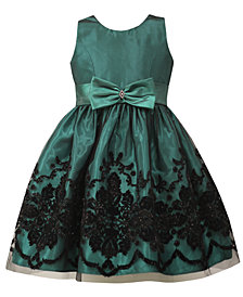 Jayne Copeland Toddler Girls Glitter Flocked Dress