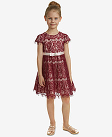 Rare Editions Little Girls Lace Fit & Flare Party Dress