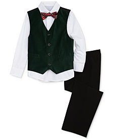 Nautica Little Boys 4-Pc. Shirt, Vest, Pants & Bowtie Set