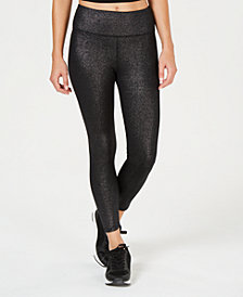 Calvin Klein Performance Shimmer High-Waist Ankle Leggings