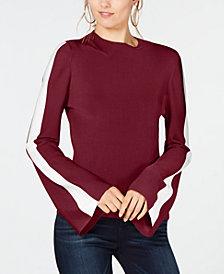 I.N.C. Varsity-Sleeve Sweater, Created for Macy's