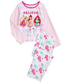 Disney Little & Big Girls 2-Pc. Princesses Pajama Set