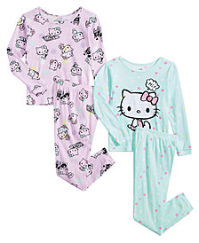 Hello Kitty Toddler & Little Girls 4-Pc. Cotton Pajama Set