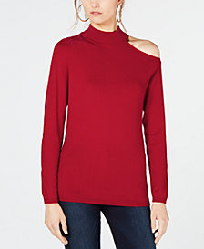 I.N.C. One Shoulder Mock Turtleneck Sweater, Created for Macy's
