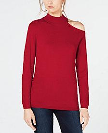 I.N.C. One Shoulder Mock Turtleneck Sweater, Created for Macy's