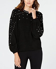 I.N.C. Embellished Sweater, Created for Macy's