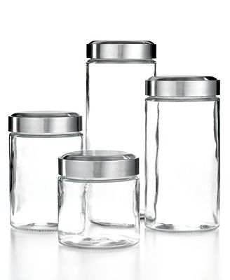 Martha Stewart Collection Glass Food Storage Canisters, Set of 4, Only at Macy's
