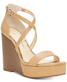 Jessica Simpson Samira Strappy Wedge Sandals