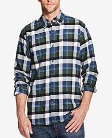 Weatherproof Vintage Men's Plaid Brushed Flannel Shirt