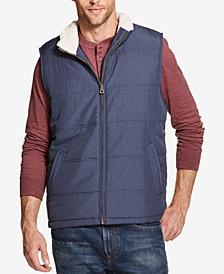 Weatherproof Vintage Men's Quilted Fleece-Lined Vest, Created for Macy's