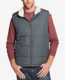 Weatherproof Vintage Men's Quilted Fleece-Lined Vest, Created for Macy's