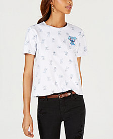 Modern Lux Juniors' Cotton Stitch Graphic-Print T-Shirt